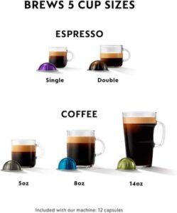 Nespresso Vertuo coffee and espresso machine review - Brew Size
